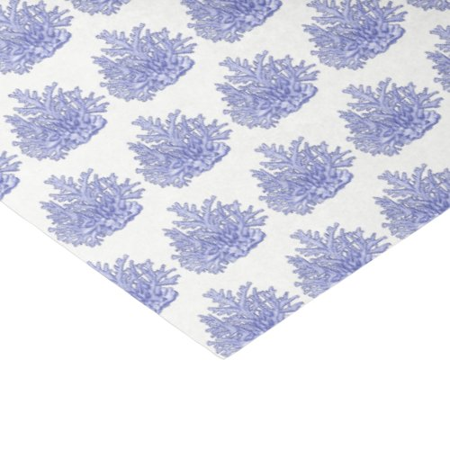 Vintage Stylized Blue Sea Coral 2 Tissue Paper