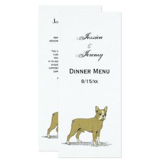 Vintage Stylized French Bulldog C Card