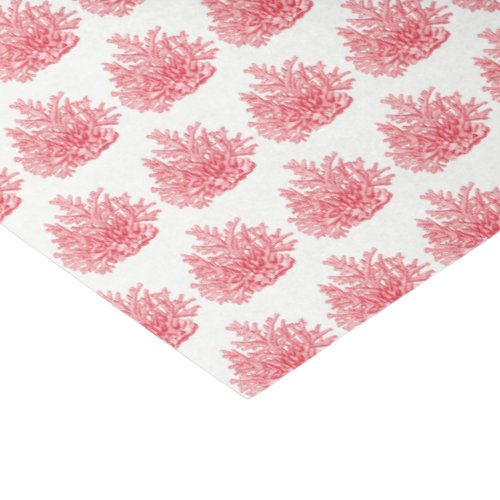 Vintage Stylized Lt Red Sea Coral 2 Tissue Paper