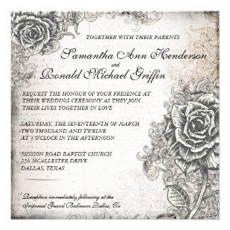 Vintage subió casando la invitación