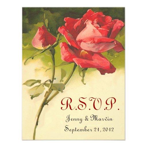 Vintage subió casando RSVP Invitacion Personalizada