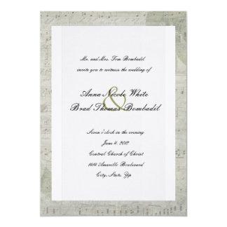 Vintage subió e invitación del boda de la música