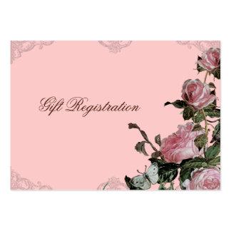 Vintage subió enrejado - tarjeta de registro del r plantillas de tarjetas de visita