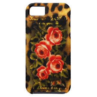 Vintage subió y leopardo 3 iPhone 5 Case-Mate protectores