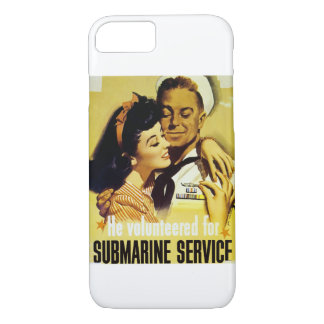 Vintage Submarine Service Poster iPhone 8/7 Case