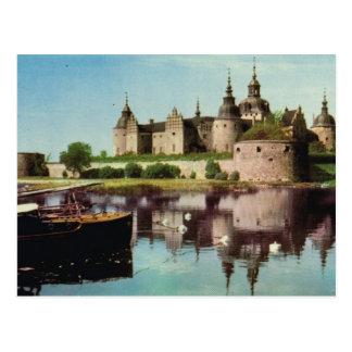 Vintage Suecia, castillo medieval de Kalmar, Postal