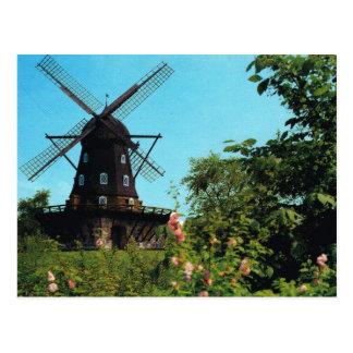 Vintage Suecia, Malmo!, molino de viento Postal