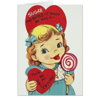 Vintage Sugar And Spice Valentine's Day Card
