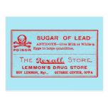Vintage Sugar of Lead Poison Label Post Card