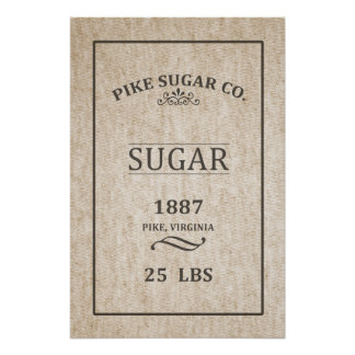 Vintage Sugar Sack Poster