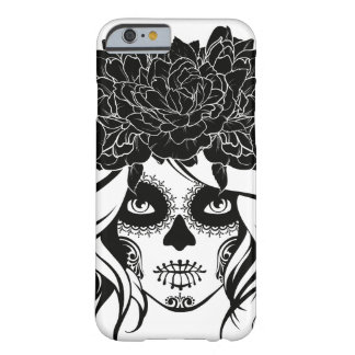 Vintage sugar skull girl with roses v17 barely there iPhone 6 case