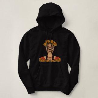 Vintage sugar skull girl with roses v2 hoodie