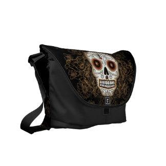 Vintage Sugar Skull Messenger Bag