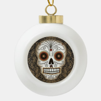 Vintage Sugar Skull Ornament (Ball or Snowflake)