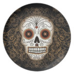 Vintage Sugar Skull Plate