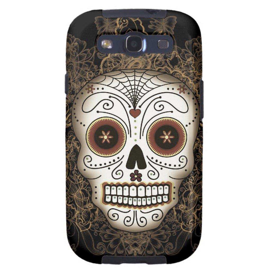Vintage Sugar Skull Samsung Galaxy S3 Case