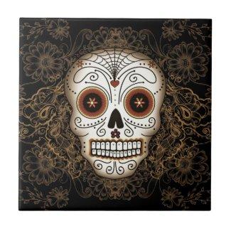 Vintage Sugar Skull Tile