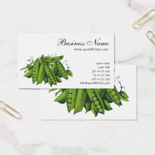 Snap business cards templates zazzle vintage sugar snap peas foods healthy vegetables business card colourmoves