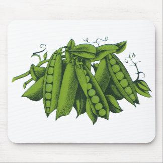 Vintage Sugar Snap Peas, Foods, Healthy Vegetables Mouse Pad