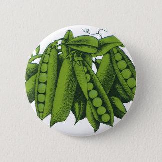 Vintage Sugar Snap Peas, Foods, Healthy Vegetables Pinback Button