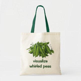 Vintage Sugar Snap Peas, Healthy Food Vegetables Budget Tote Bag