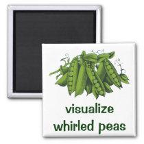 Vintage Sugar Snap Peas, Healthy Food Vegetables Magnet