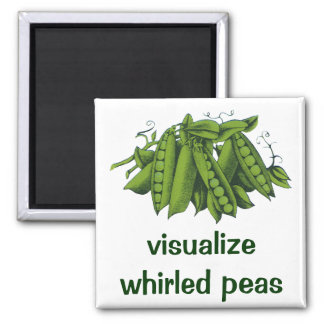 Vintage Sugar Snap Peas, Healthy Food Vegetables Magnet