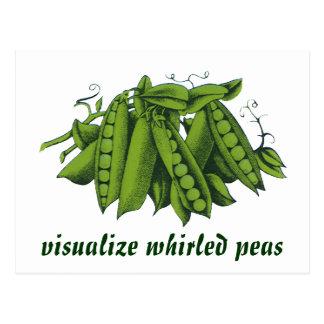 Vintage Sugar Snap Peas, Healthy Food Vegetables Postcard