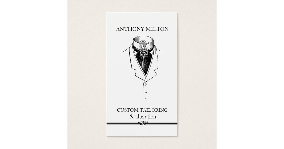 Formal Wear Business Cards & Templates | Zazzle