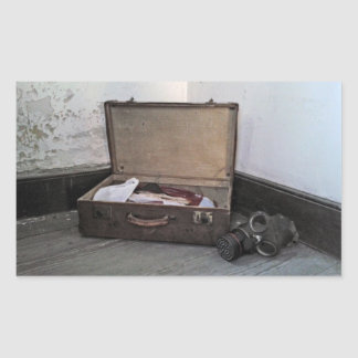 Vintage Suitcase/Gas Mask Stickers