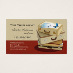 Vintage Suitcase Travel Agency Business Card at Zazzle