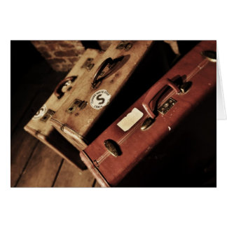 vintage suitcases card