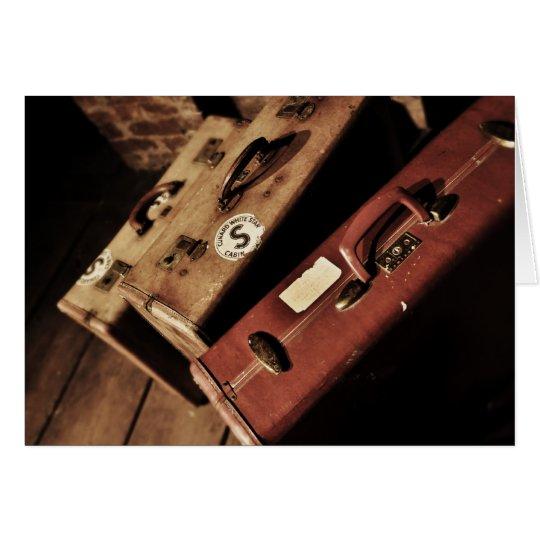 vintage suitcases card