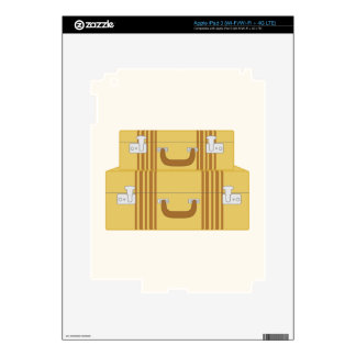 Vintage Suitcases Decal For iPad 3