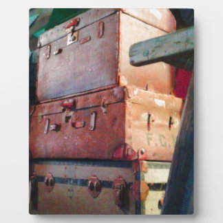 Vintage Suitcases Plaque
