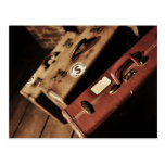 vintage suitcases post cards