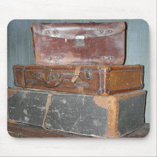 Vintage Suitcases - Stacks of Luggage Mouse Pad