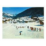 Vintage Suiza, Morgins Ecole de ski Postal