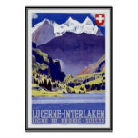 Vintage Suiza - Póster