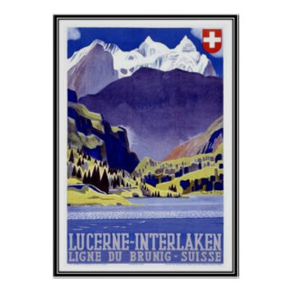 Vintage Suiza - Póster