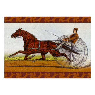 Vintage Sulky Horse Racing Business Card Templates