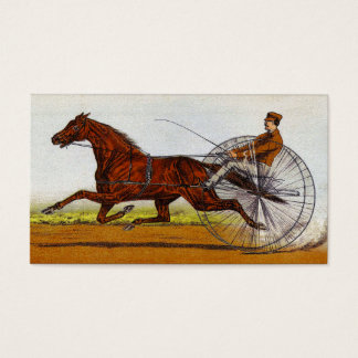 Vintage Sulky Horse Racing Business Card