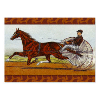 Vintage Sulky Horse Racing Business Card Template