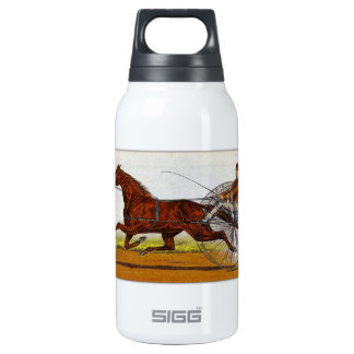 Vintage Sulky Horse Racing Insulated Water Bottle