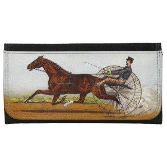 Vintage Sulky Horse Racing Wallet