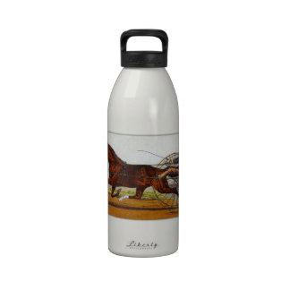 Vintage Sulky Horse Racing Reusable Water Bottle