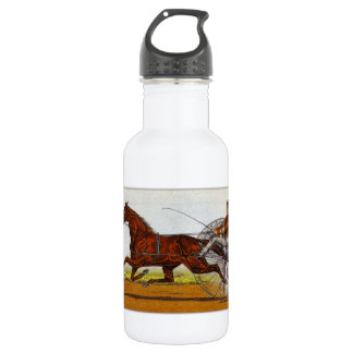 Vintage Sulky Horse Racing Water Bottle