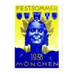 Vintage Summer Fest Poster Postcard