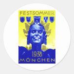 Vintage Summer Fest Poster Stickers