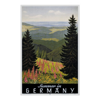 Vintage Summer in Germany Travel Poster Print